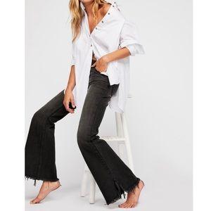 Free People Vintage Flare Jeans in Black Ash